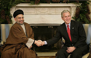 Islamic Supreme Council of Iraq - SCIRI's leader Abdal Aziz al-Hakim meeting President George W. Bush, 2006