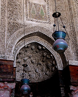 Madrassa of Al-Nasir Muhammad - The mihrab in the Madrasa of Al-Nasir Muhammad