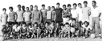 Shabab Al-Ahli Dubai FC - Mohammed Shehta in the middle, the first manager for Al Ahli Club in early 70s.