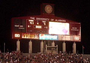 2006 Alabama Crimson Tide football team - Final scoreboard at the conclusion of the game.