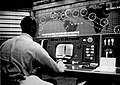 Alan Shepard in Mercury Control Center.jpg