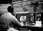 Alan Shepard in Mercury Control Center.jpg