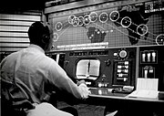 Alan Shepard in Mercury Control Center