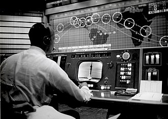 Cape Canaveral Air Force Station - Alan Shepard watches Gus Grissom's Liberty Bell 7 launch in the Mercury Control Center