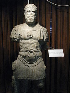 Alba Iulia National Museum of the Union 2011 - Possible Statue of Roman Emperor Pertinax, Apulum.JPG