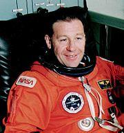 Albert Sacco in his space suit