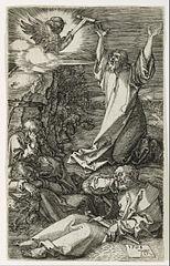Jésus sur le mont des oliviers
