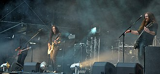 Alcest - Alcest live at Party.San 2013 in Thuringia, Germany. From left to right: Indria, Neige, and Zero.