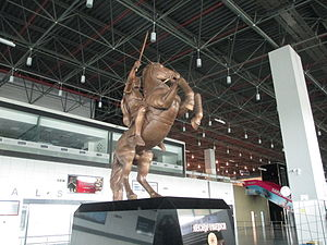 "Skopje ""Alexander the Great"" Airport - Alexander the Great statue at Skopje Airport"