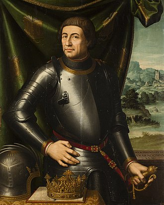 Alfonso V of Aragon - Portrait of Alfonso V of Aragon, by 16th century painter Vicente Juan Masip