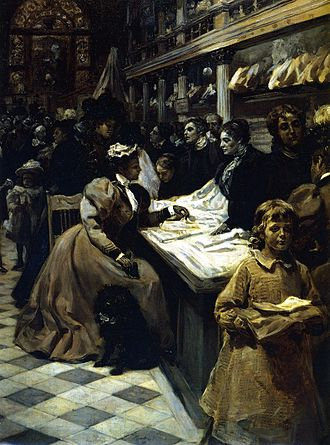 Alice Barber Stephens - Alice Barber Stephens, The Women Business, oil, 1897, Brandywine River Museum, Chadds Ford, Pennsylvania