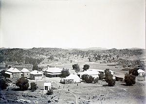 Alice Springs Telegraph Station - Alice Springs telegraph station buildings in 1905