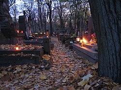 All Saints Eve at Powązki cemetery