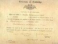 Allama Iqbal research cirtificate for graduation at Cambridge University.jpg