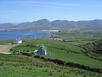 Allihies - View over Allihies. Ballydonegan Bay is on the left