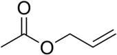 Skeletal formula of allyl acetate