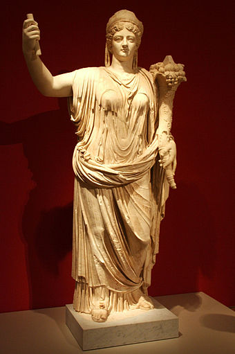 Livia in the guise of a goddess with cornucopia Altes Museum - Statue der vergottlichten Kaiserin Livia.jpg