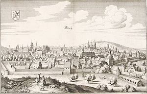 Alzey - Copper etching by Matthäus Merian 1645