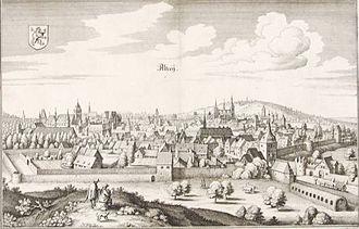 Alzey - Copper etching by Matthäus Merian 1645