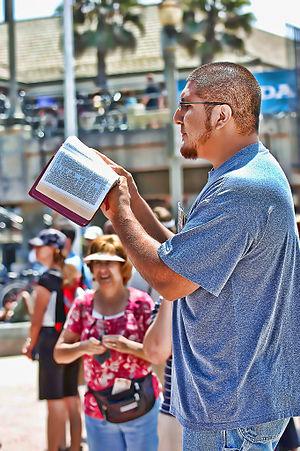 4th day of Evangelism training at Huntington B...