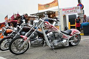 American IronHorse - an American IronHorse Custom Texas Chopper in Hamburg, Germany