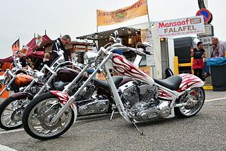 American IronHorse - an American IronHorse Custom Texas Chopper in Hamburg, Germany