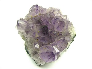 Macro of Amethyst Quartz. It is 3 inches (8 cm...