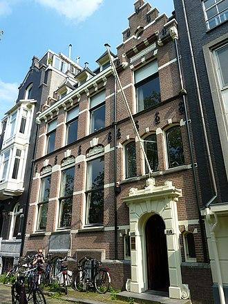 Laurens van der Hem - Herengracht 115, former address of Laurens van der Hem, in 1890 unrecognizably rebuilt after a design by Hendrik Petrus Berlage