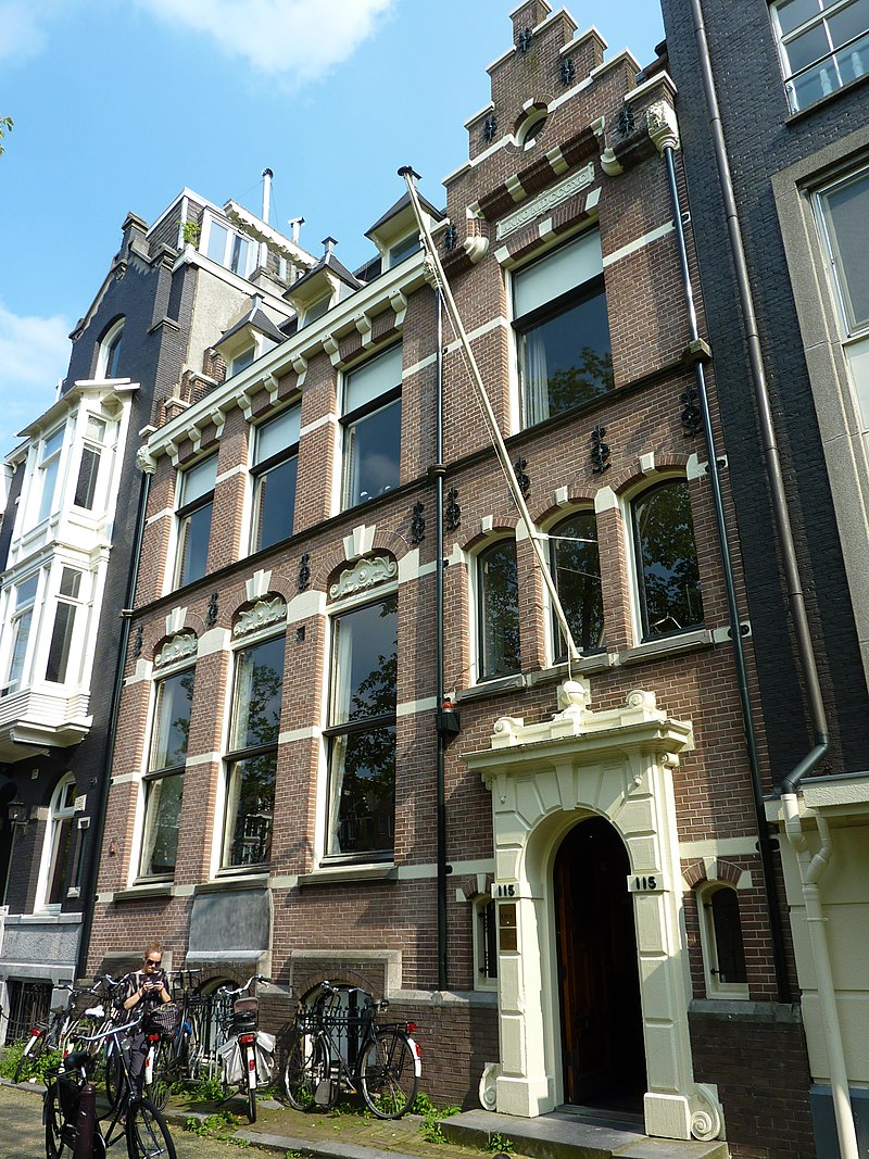 Pand waarvan de gevel in typische laat 19e eeuwse for Herengracht amsterdam