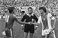 Amsterdam 703 voetbaltoernooi Ajax tegen Anderlecht , Rob Rensenbrink (l) en R, Bestanddeelnr 929-8642.jpg