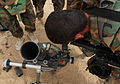 An Afghan National Army commando with the 1st Tolai, 3rd Special Operations Kandak checks an aim point through the viewfinder of a mortar system during a training exercise in the Dand district, Kandahar 130525-A-QS703-121.jpg