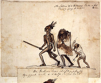 Odawa - Mid-18th century sketch of an Odawa family by British soldier George Townshend