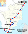 Anantapuri Express (Trivandrum-Chennai) Route map.jpg