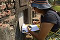 Ananya Mondal Collecting Information - Dutch Cemetery Documentation - Chinsurah - Hooghly 2014-05-14 8389.JPG