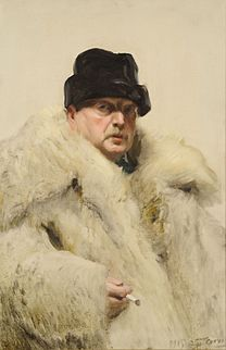 ZORN Anders Self-portrait in a wolfskin 1915