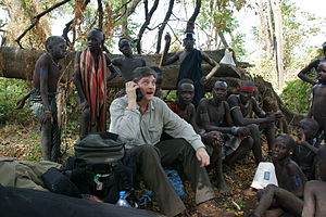André Singer (producer) - André Singer in Ethiopia with the Mursi 2008