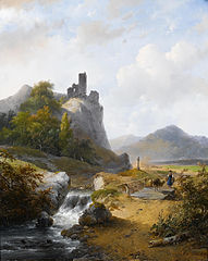 Paysage allemand avec ruine