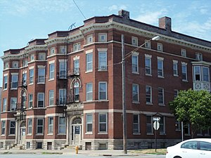 West Third Street Historic District (Davenport, Iowa) - Andresan Apartments