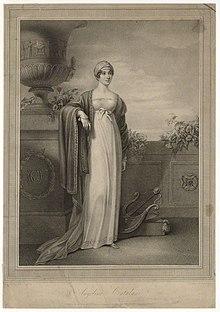Angelica Catalani im Jahr 1812. Lithographie von Anthony Cardon nach Clara Maria Pope (Quelle: Wikimedia)