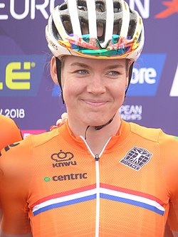 Anna van der Breggen - 2018 UEC European Road Cycling Championships (Women's road race).jpg