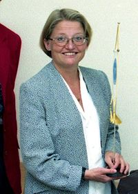 Anna Lindh på Rosenbad 1995 (foto: Towpilot)