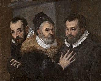 The Carracci - From left to right, Annibale, Ludovico and Agostino Carracci