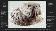Annotated Image of the Feathered Serpent or Plumbed Serpent Sculpture.png