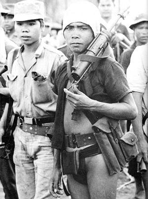 Degar - A Montagnard tribesman during training in 1962.