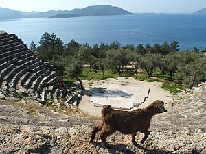 Antiphellus - The ancient Greek theatre overlooking the sea