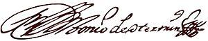 Antonio de Otermin - Image: Antonio De Otermin Firma