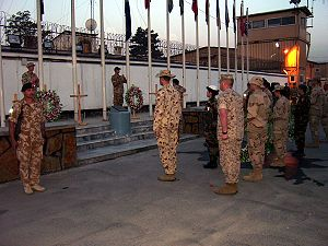 Camp Eggers - Camp Eggers on Anzac Day in 2007
