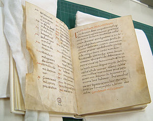 Apicius - The Apicius manuscript (ca. 900 AD) of the monastery of Fulda in Germany, which was acquired in 1929 by the New York Academy of Medicine