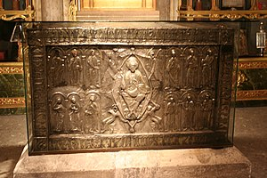 Relics associated with Jesus - The ark containing the Sudarium of Oviedo.