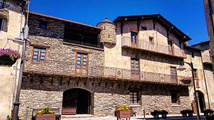 Ordino - Areny-Plandolit family house localed in Carrer Major d'Ordino.